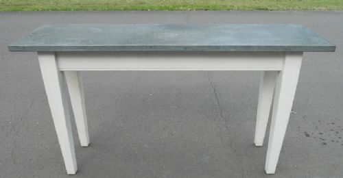 Painted Console Table with Granite Top
